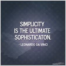 Simplicity - get the power back!